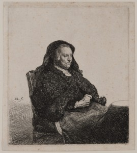 Portrait of Rembrandt's Mother Seated at a Table