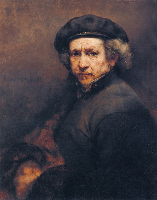 Rembrandt Self Portrait with Beret and Turned-Up Collar, 1659
